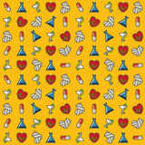 Funny yellow medical pattern Royalty Free Stock Images