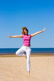Funny yoga Royalty Free Stock Photo