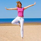 Funny yoga Royalty Free Stock Photography