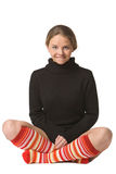 Funny yogi Royalty Free Stock Photo