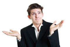 Funny young businessman Royalty Free Stock Photography