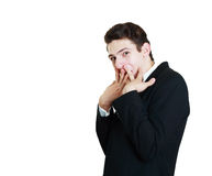 Funny young businessman Stock Images