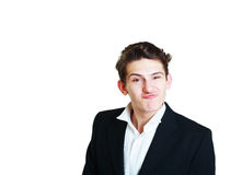 Funny young businessman Royalty Free Stock Image