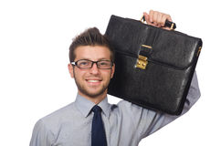 Funny young businessman Stock Image