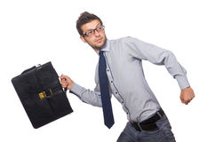 Funny young businessman Royalty Free Stock Photos