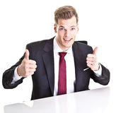 Funny young businessman Stock Photo