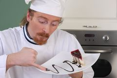 Funny young chef Stock Image
