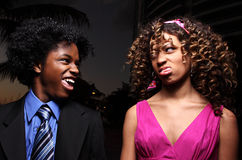 Funny young couple Stock Image