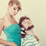 Funny young couple making silly face Royalty Free Stock Images
