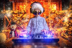 Funny young dj stock images
