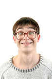 Funny Young Man in Glasses Royalty Free Stock Photo