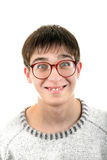 Funny Young Man in Glasses Royalty Free Stock Image