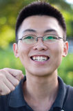Funny young man portrait stock photography