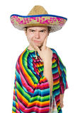 Funny young mexican isolated on white Royalty Free Stock Photo