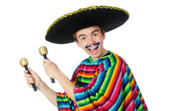 Funny young mexican Stock Photography