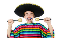 Funny young mexican sings Stock Image
