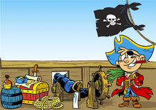 Funny young pirate Stock Photos