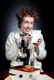 Funny young scientist Stock Images