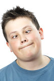 Funny young teen boy stock image
