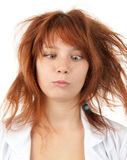 Funny young woman royalty free stock photos