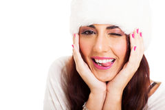 Funny young woman Royalty Free Stock Photo