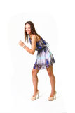 Funny young woman posing isolated on white background Stock Photo