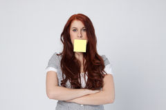 Postit woman Royalty Free Stock Image