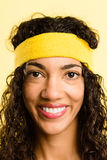 Portrait real people high definition yellow background Royalty Free Stock Photos