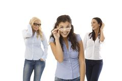Funny woman in glasses Royalty Free Stock Images