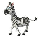 Funny Zebra cartoon character Stock Images