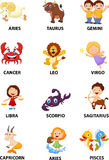 Funny zodiac cartoon Royalty Free Stock Photos