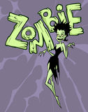 Funny zombie girl character Royalty Free Stock Photos