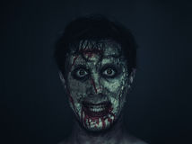 Funny zombie man Stock Photos