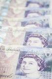 20 funtów rzędów obrazy royalty free