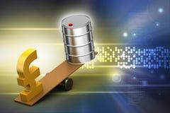 Funt i olej możemy równoważenie Fotografia Stock