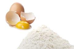 Funt mąka i jajko Fotografia Stock