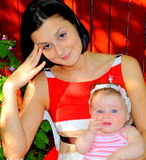 FUNtastic (mother and daughter portrait) Royalty Free Stock Photography