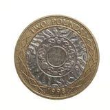Funtowa moneta - 2 funta Obrazy Royalty Free