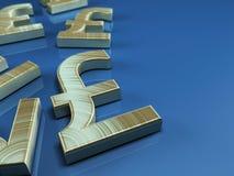 Funtowego Sterling symbol Zdjęcie Royalty Free