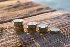Funtowej monety sterty obraz stock