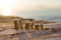 Funtowej monety sterty obrazy stock