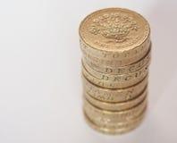 Funtowej monety stos Zdjęcie Royalty Free