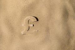 Funtowy symbol Pod piaskiem obrazy stock