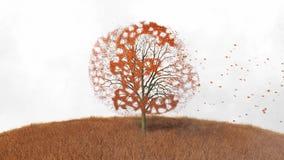 Funtowy symbol w drzewie, spada opuszcza royalty ilustracja