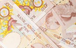 Funtowy waluty tło Obraz Stock