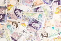 Funtowy waluty tło Zdjęcie Stock