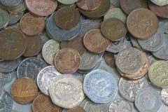 Funtowych monet tło Fotografia Stock