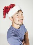 Funy εξωτικός ασιατικός Άγιος Βασίλης στο νέο κόκκινο ετών στοκ φωτογραφίες με δικαίωμα ελεύθερης χρήσης