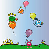 Funy balls Royalty Free Stock Images