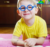 Funy boy in glasses Stock Photography